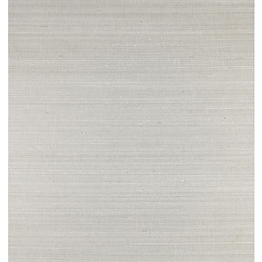 Inspired By Color™ Grasscloth Impression Wallpaper, Silver With White