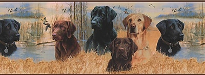Inspired By Color™ Country & Lodge Working Dogs Border, Multi With Brown Band