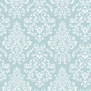 Inspired By Color™ Blue Delicate Document Damask Wallpaper, Blue
