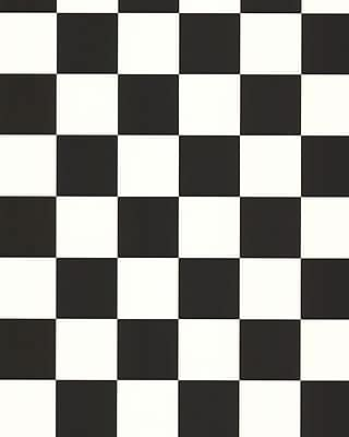 Inspired By Color™ Black & White Check Wallpaper, Black with White