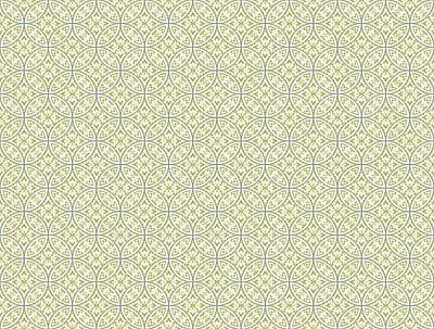 Inspired By Color™ Green Lacey Circle Geo Wallpaper, Green With Blue