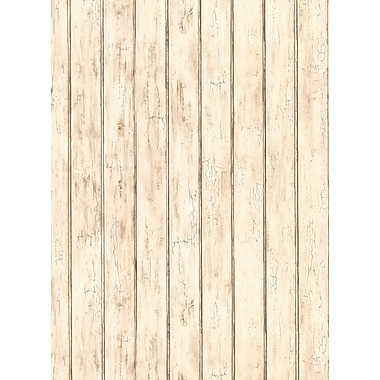 Inspired By Color™ Country & Lodge Bead Board Wallpaper, White With Gray