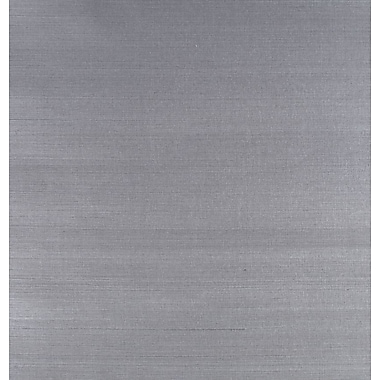 Inspired By Color™ Grasscloth Impression Wallpaper, Dark Silver