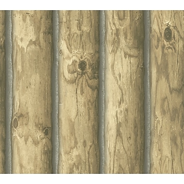 Inspired By Color™ Country & Lodge Mountain Logs Wallpapers