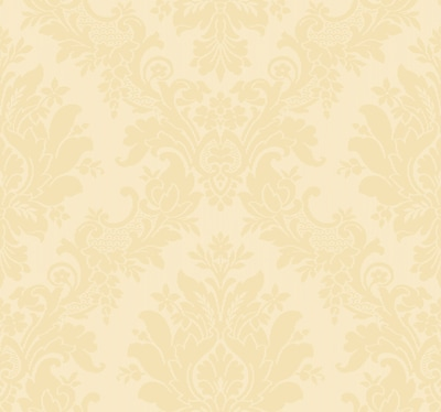 Inspired By Color™ Orange & Yellow Damask Wallpaper, Beige With Tan