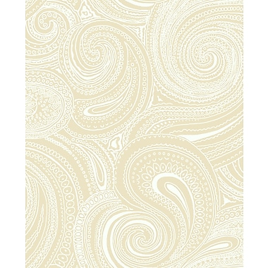 Inspired By Color™ Beige Paisley Swirl Wallpapers