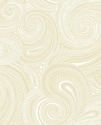Inspired By Color™ Beige Paisley Swirl Wallpaper, Beige With Cream