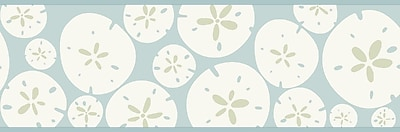 Inspired by Color™ Borders Sand Dollar Border, Spa Blue With White
