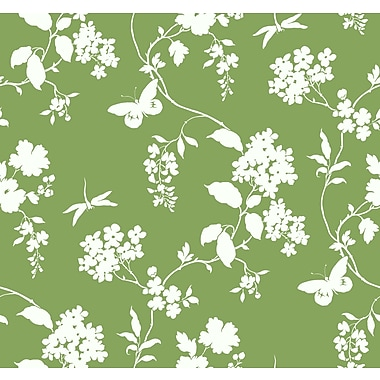 Inspired By Color™ Green Scenic Vines Wallpaper, Green With White