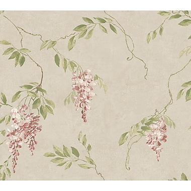 Inspired By Color™ Metallics Wisteria Wallpaper, Silver With Pink