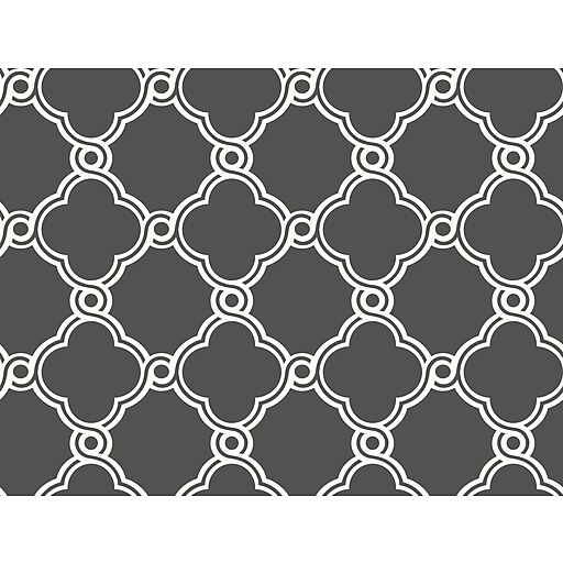 Inspired By Color™ Beige Open Trellis Wallpaper, Gray With White