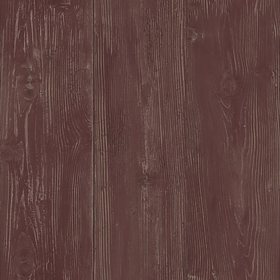 Inspired By Color™ Country & Lodge Cabin Boards Wallpaper, Burgundy