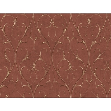 Inspired By Color™ Red Delicate Scroll Wallpaper, Red With Gold