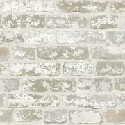 Inspired By Color™ Beige Up The Wall Wallpaper, White With Gray