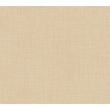 Inspired by Color™ Beige Linen Wallpaper, Dark Brown With Beige