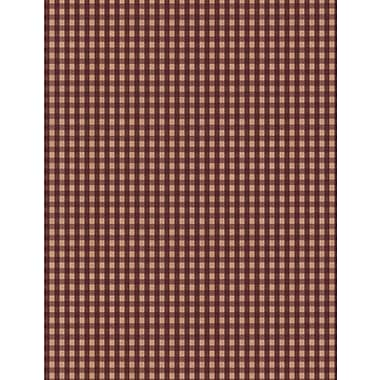Inspired By Color™ Country & Lodge Gingham Wallpaper, Burgundy With Tan