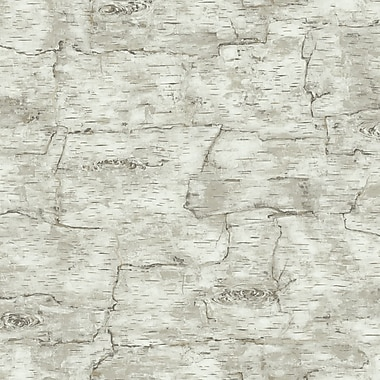 Inspired By Color™ Country & Lodge Birch Bark Wallpaper, Off White