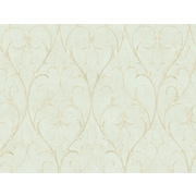 Inspired By Color™ Green Delicate Scroll Wallpaper, Blue