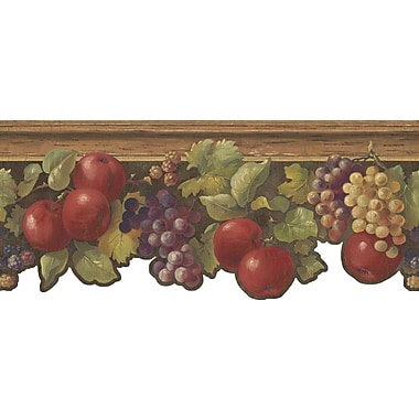 Inspired By Color™ Borders Fruit & Ivy Border, Red With Brown/Green