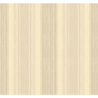 Inspired By Color™ Beige Stria Wallpaper, Beige With Brown
