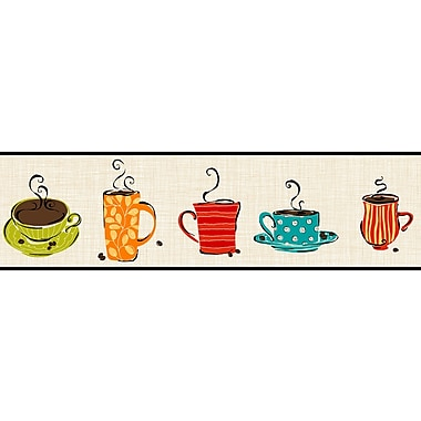 Inspired by Color™ Borders Coffee Border, Tan With Green/Blue