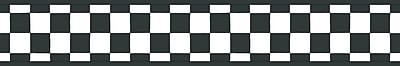 Inspired By Color™ Borders Check Border, Black With White