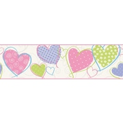 Inspired By Color™ Borders Heart Border, White Pastel