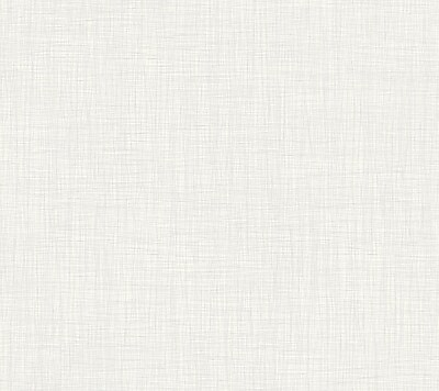 Inspired by Color™ Beige Linen Wallpaper, White