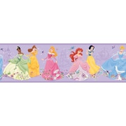 Inspired By Color™ Borders Dancing Princesses Border, Purple With Pink/Blue/Green/White/Red/Brown