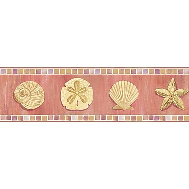 Inspired By Color™ Borders Ocean Mosaic Border, Orange With Yellow/Purple