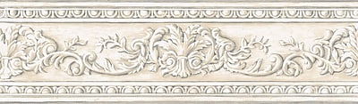 Inspired By Color™ Borders Arch Fan Border, Off White With Cream