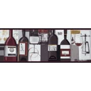 Inspired By Color™ Borders Contemporary Wine Border, Black With Red