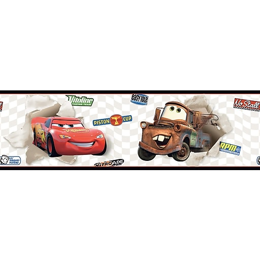 Inspired By Color™ Kids Cars Lightning and Matter Border, Cream