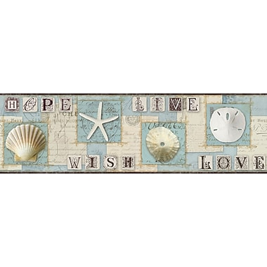 Inspired By Color™ Borders Beach Journal Border, Blue With Beige