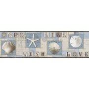 Inspired By Color™ Borders Beach Journal Border, Blue With White