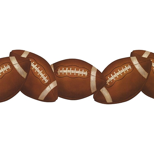 Inspired By Color™ Kids Football Border, Saddle Brown With White/Black Onyx