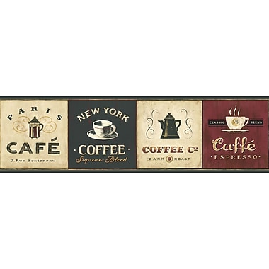 Inspired By Color™ Borders Coffee Signs Border, Cream With Brown