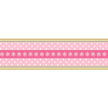 Inspired By Color™ Borders Daisy Ribbon Border, Pink With Green