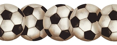 Inspired By Color™ Kids Soccerball Border, Black With White