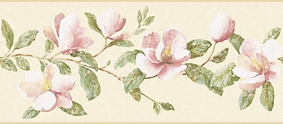 Inspired By Color™ Borders Magnolia Border, Beige With Pink