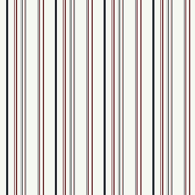Inspired By Color™ Kids Wide Multi Stripe Wallpaper, White With Black/Red
