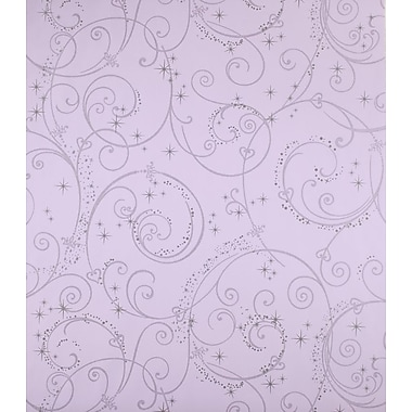 Inspired By Color™ Kids Perfect Princess Swirl Wallpaper, Purple With Glitter