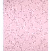 Inspired By Color™ Kids Perfect Princess Swirl Wallpaper, Pink With Glitter