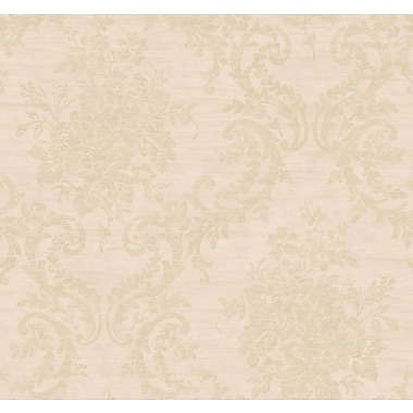 Inspired By Color™ Pink & Purple Classic Damask Wallpaper, Pink With Gold