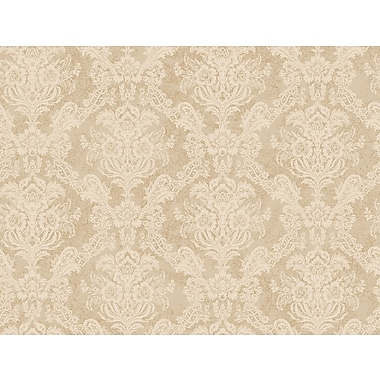 Inspired By Color™ Beige Floral Damask Wallpaper, Cream With Off White