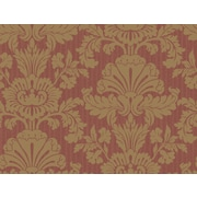 Inspired By Color™ Red Shell Damask Wallpaper, Dark Red With Gold