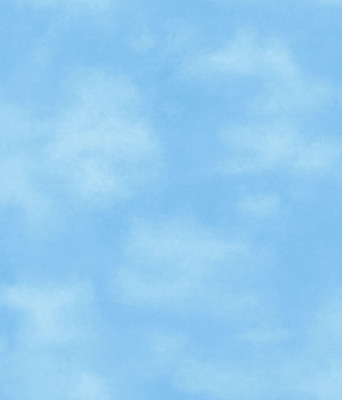 Inspired By Color™ Kids Clouds Wallpaper, Blue With White