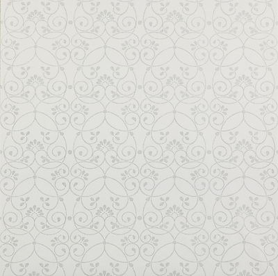 Inspired By Color™ Kids Glitter Scroll Wallpaper, White