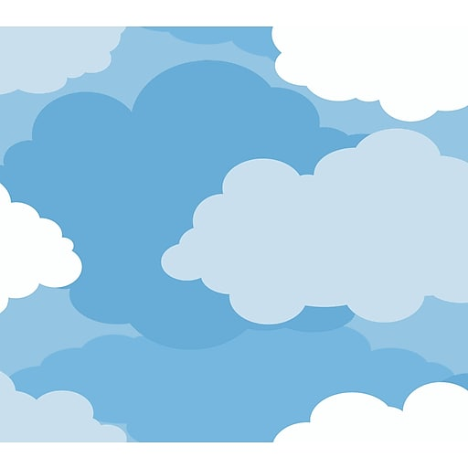 Inspired By Color™ Kids Cloud Sidewall Wallpaper, Blue