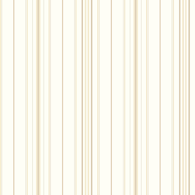Inspired By Color™ Beige Wide Pinstripe Wallpaper, White With Brown